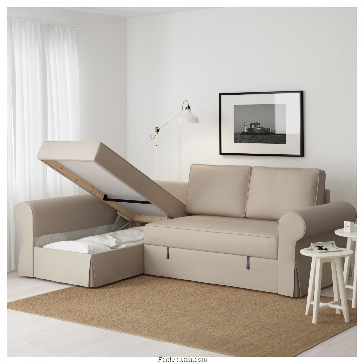 Ikea Backabro Sofa, Assembly Instructions, Ideale IKEA BACKABRO Sofa, With Chaise Longue Readily Converts Into A Bed