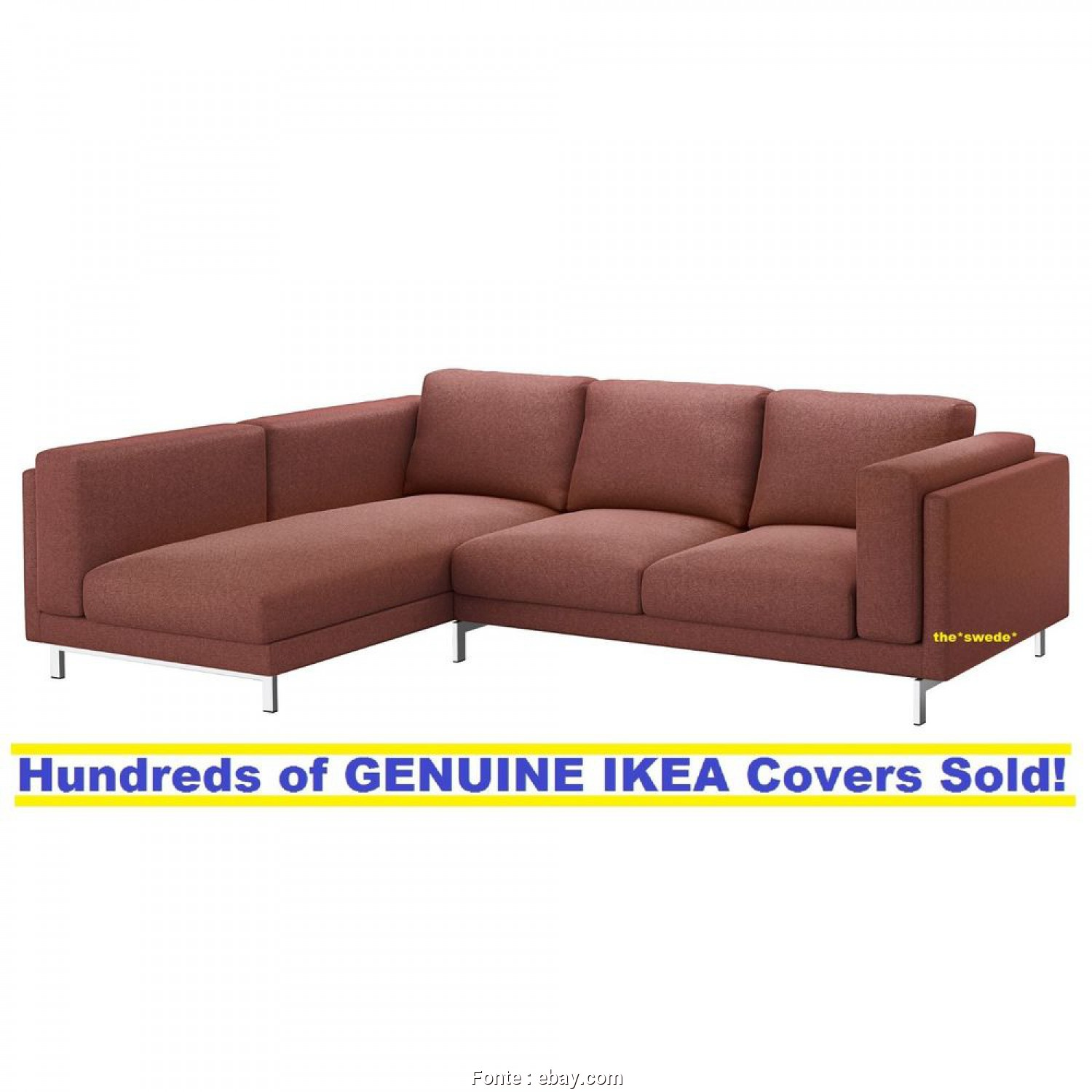 Ikea Beddinge Cover Ebay, Delizioso Details About IKEA NOCKEBY Sofa With Chaise LEFT Cover Slipcover TALLMYRA RUST New! SEALED!