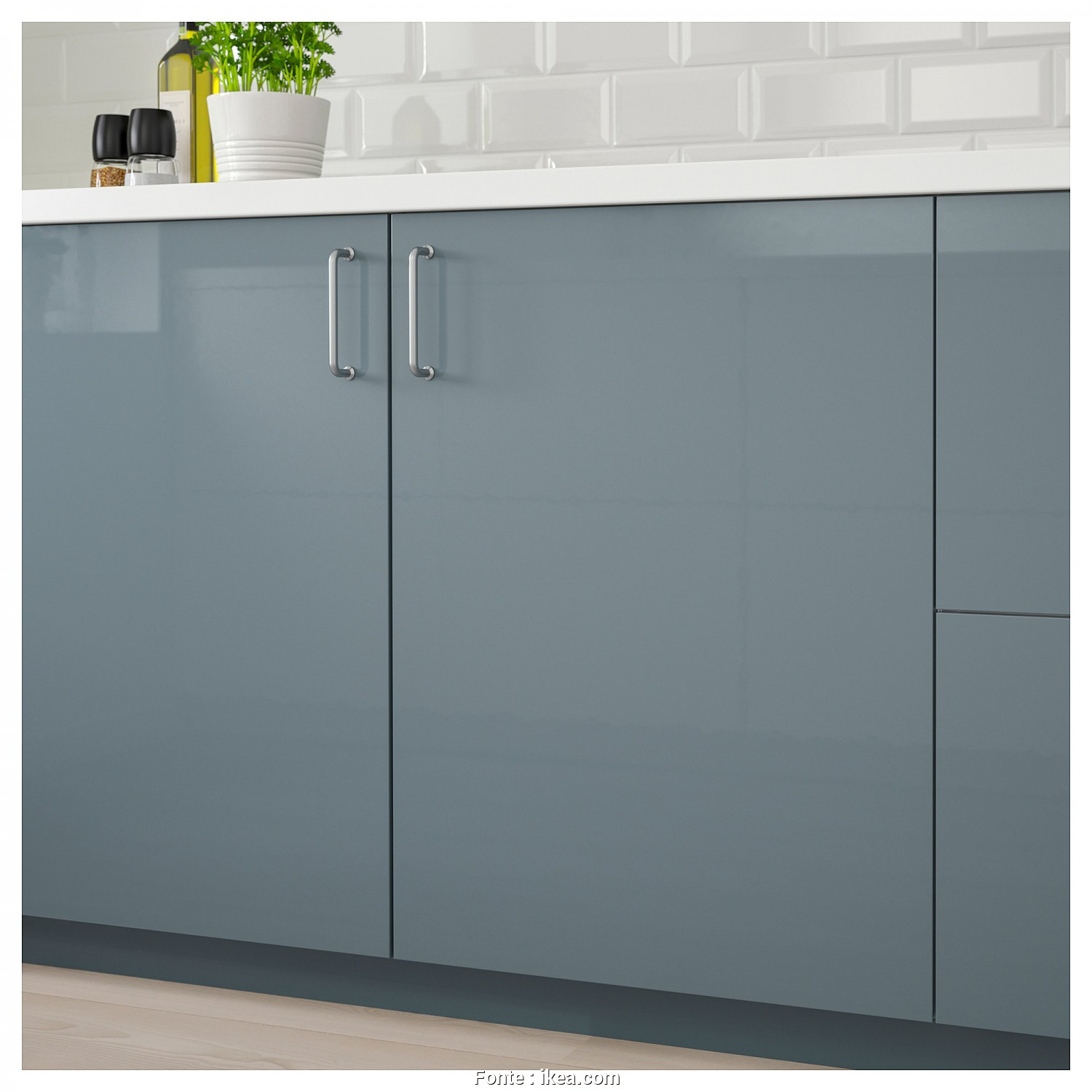Ikea Copricuscini 40X40, Classy IKEA KALLARP Door Covered With High-Gloss Foil; Gives An Easy Care Finish