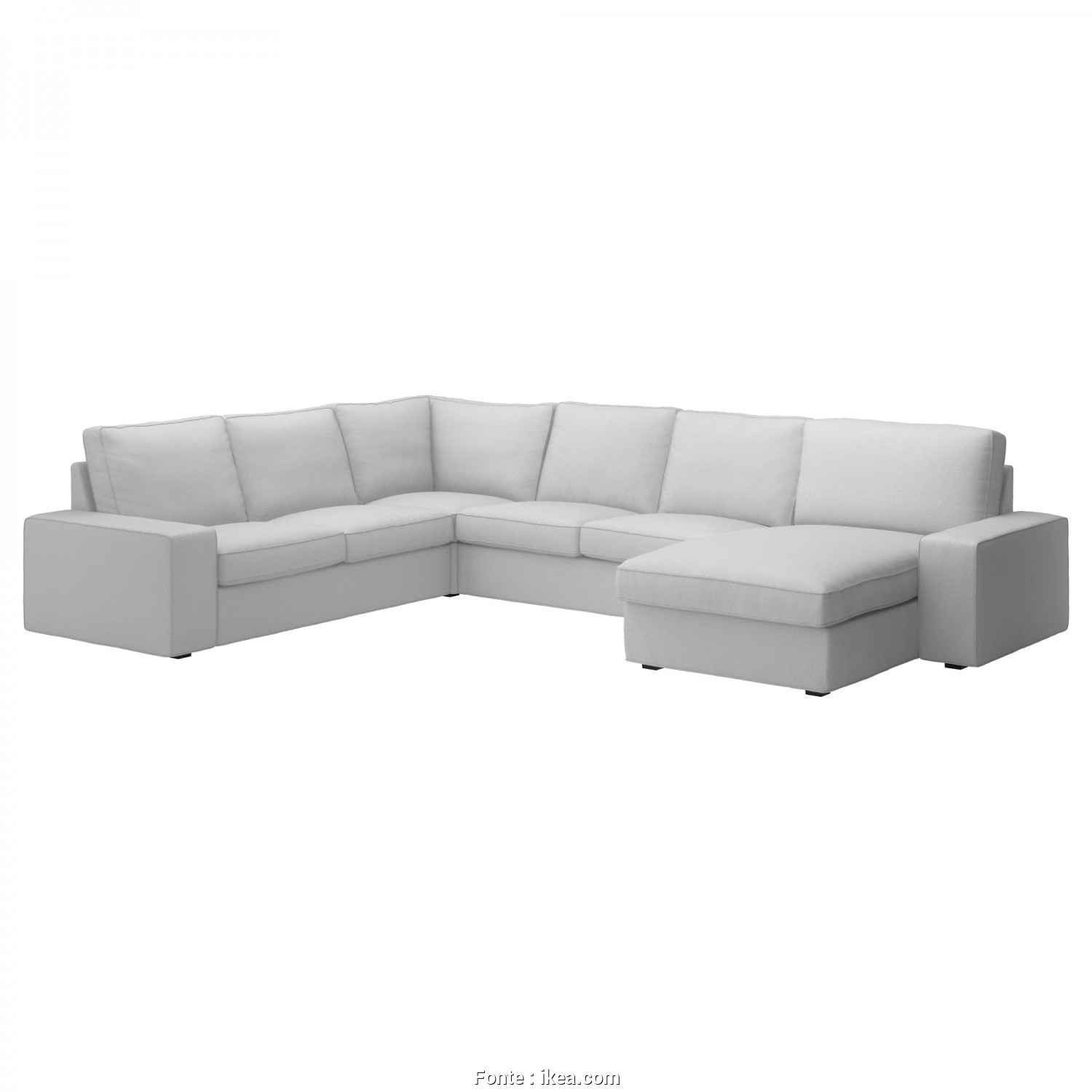 Ikea Divano Memory, Bello KIVIK Corner Sofa, 5-Seat, Hillared With Chaise Longue, Hillared Dark Blue