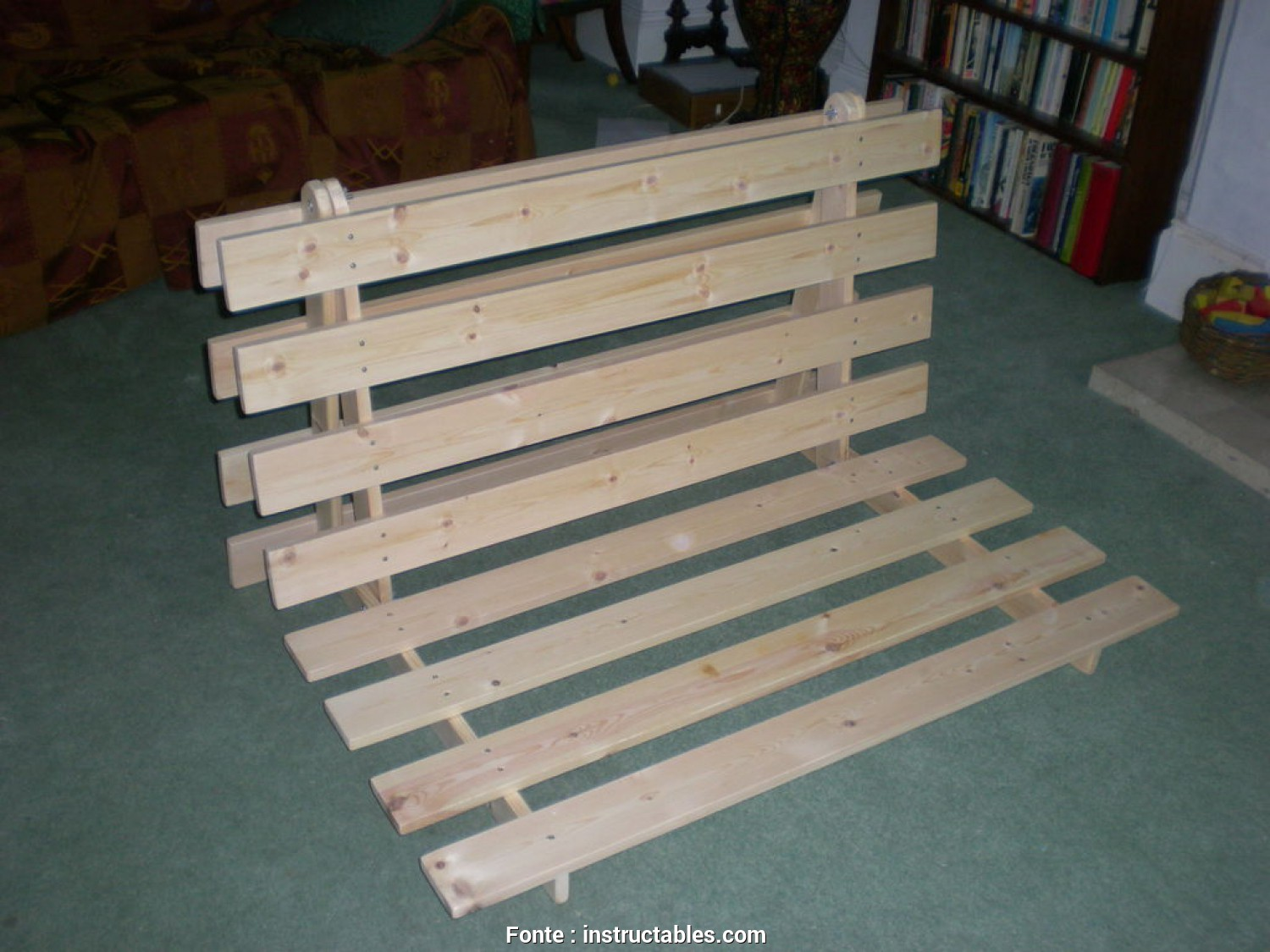 Ikea Futon Folding Instructions, Delizioso How To Make A Fold, Sofa/Futon/Bed Frame: 14 Steps (With Pictures)