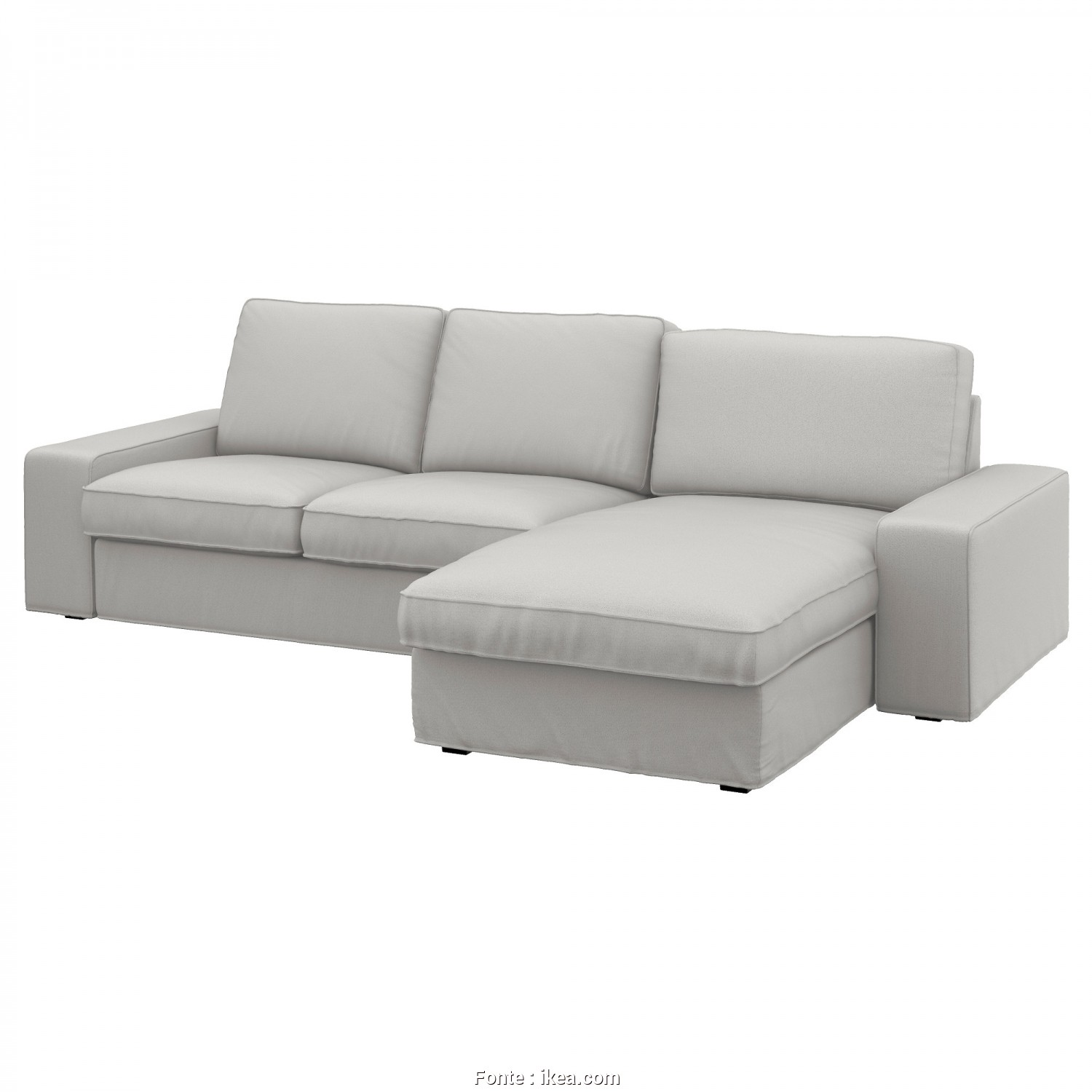 Ikea Klippan 3 Seater Sofa Dimensions, Delizioso IKEA KIVIK 3-Seat Sofa, Cover Is Easy To Keep Clean As It Is