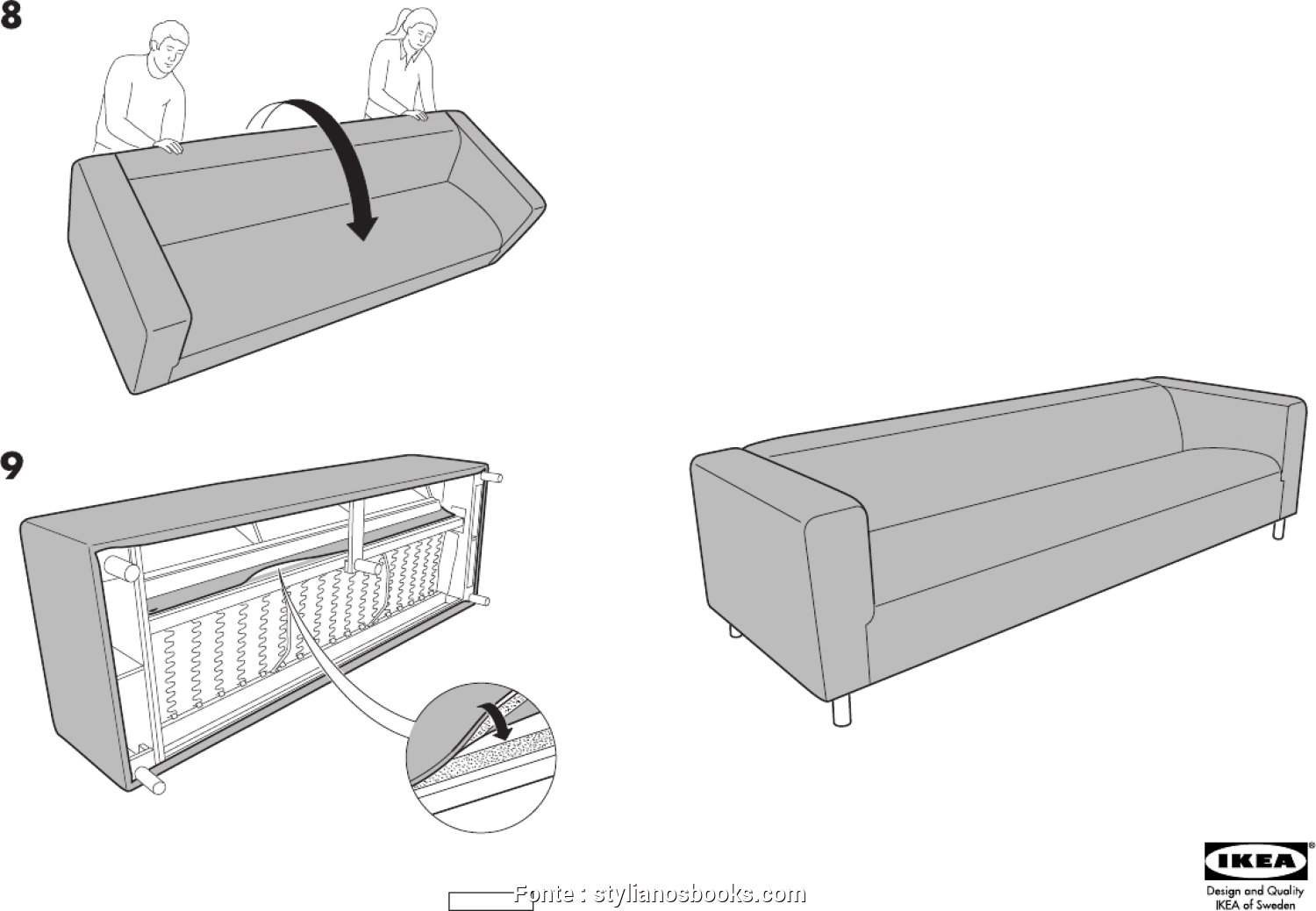 Completare 6 Ikea Klippan Cover Instructions