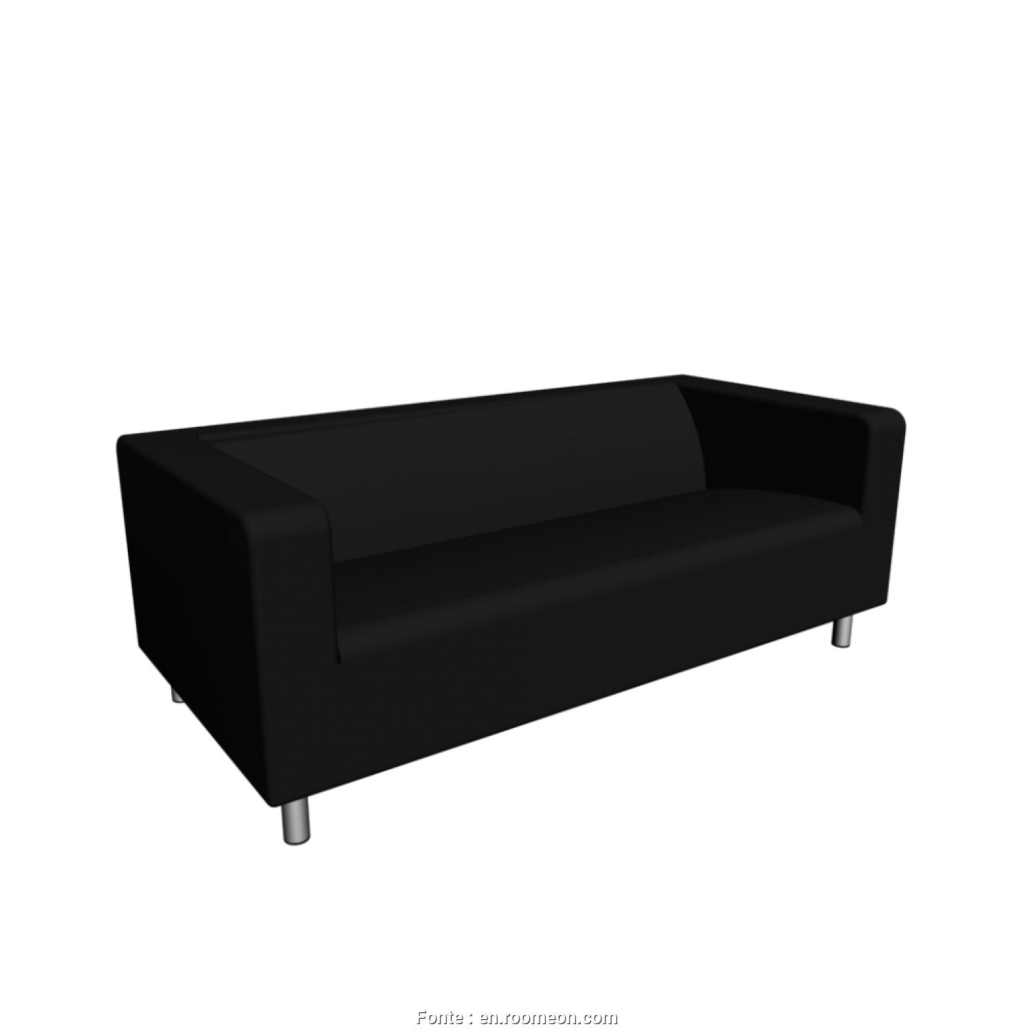 Ikea Klippan Loveseat Dimensions, Ideale KLIPPAN Loveseat,Granån Black, Design, Decorate Your Room In 3D