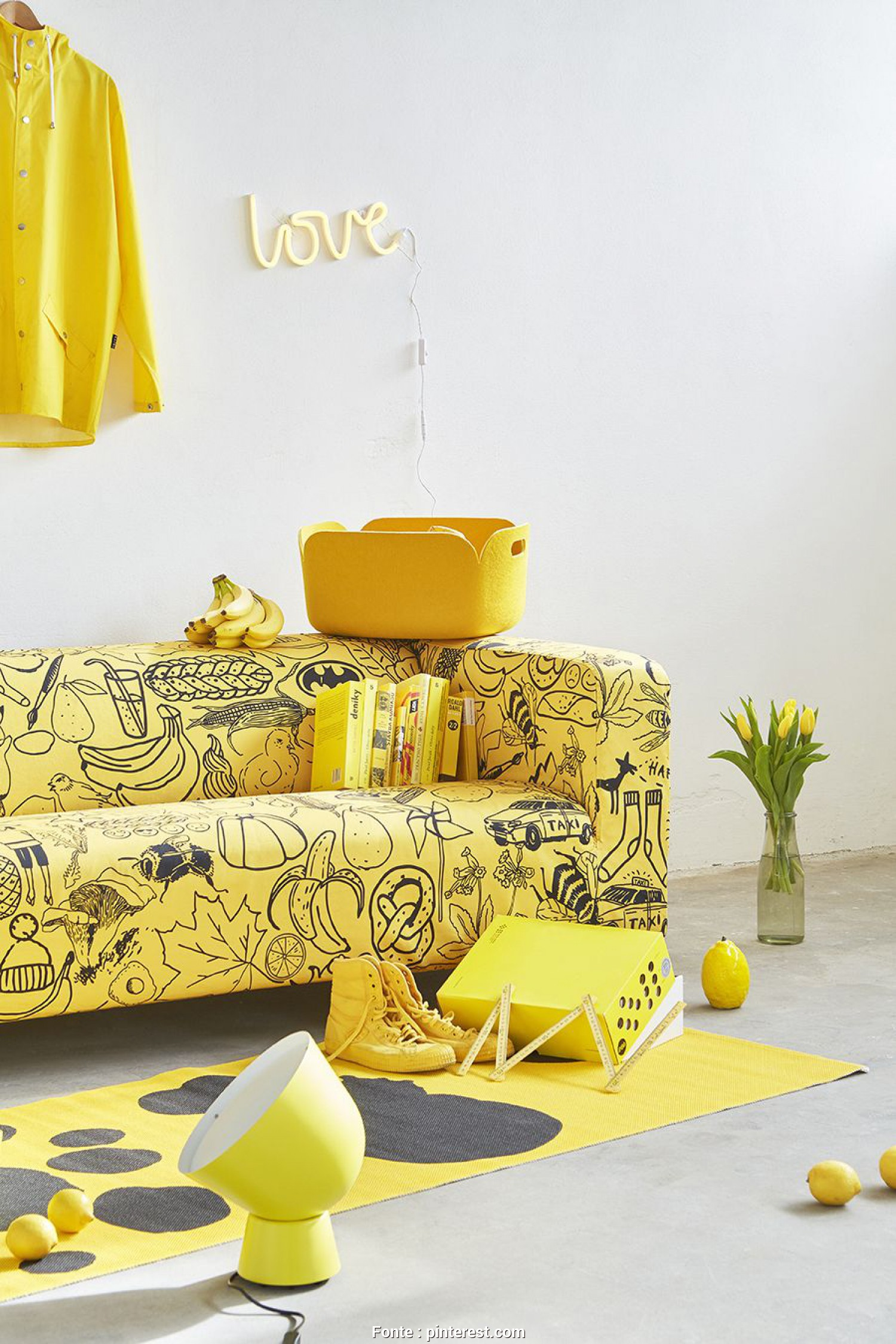 Ikea Klippan Sofa Covers Yellow, Completare ARTEFLY Ikea Klippan Cover YELLOW, Interior Styling /, Rid Of Your Yellow Streak, Give Your Interior A, Air Of Mellow
