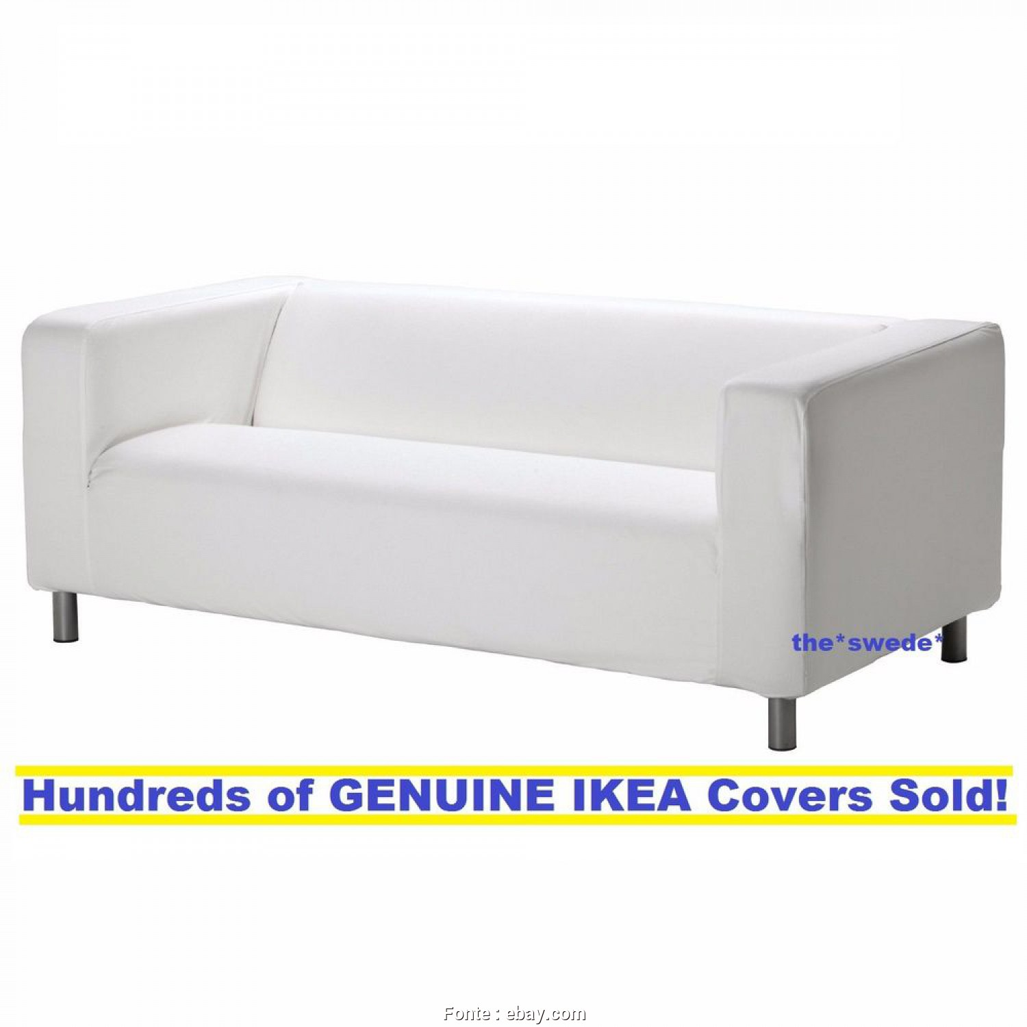 Ikea Klippan Sofa Ebay, Deale Details About Ikea KLIPPAN Loveseat (2 Seat Sofa) Cover Slipcover GRANAN WHITE New!