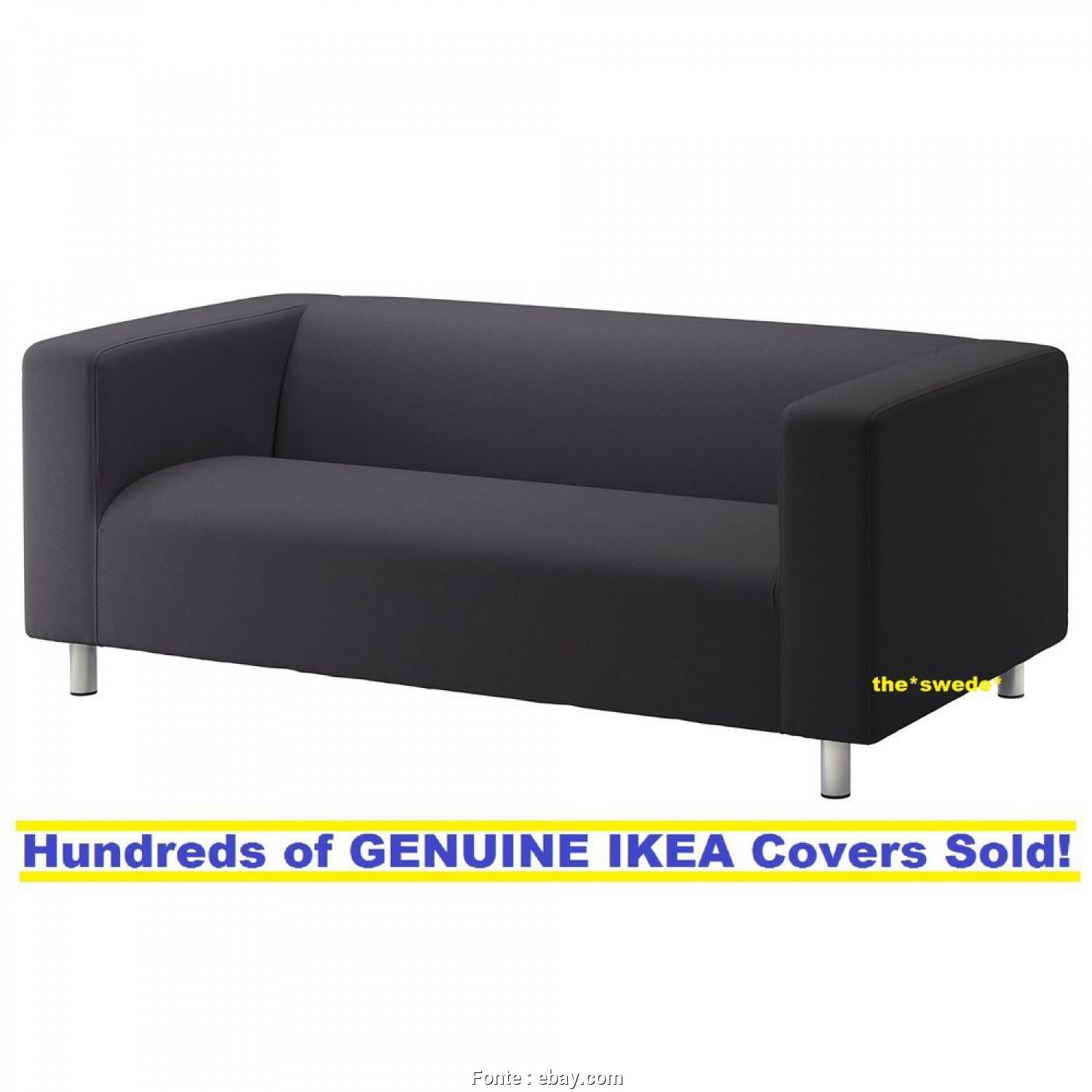 Ikea Klippan Sofa Ebay, Freddo Details About Ikea KLIPPAN Loveseat (2 Seat Sofa) Cover Slipcover KABUSA DARK GRAY New! SEALED