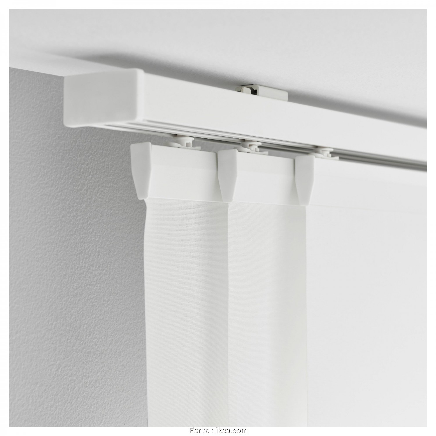 Ikea Vidga Stoffe, Costoso VIDGA Triple Curtain Rail, White