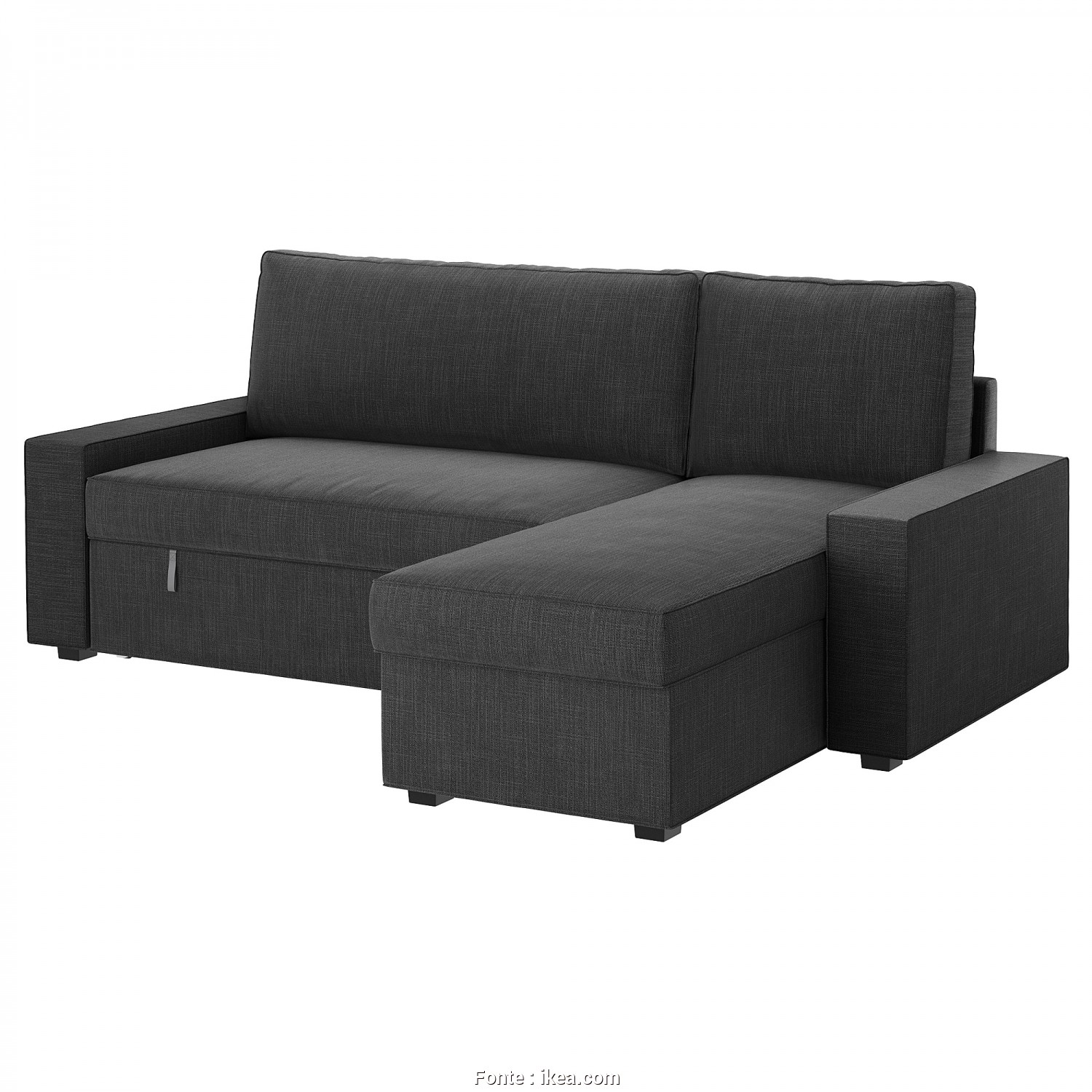 Ikea Vilasund Kanepe, Buono VILASUND Sofa, With Chaise Longue Hillared Anthracite