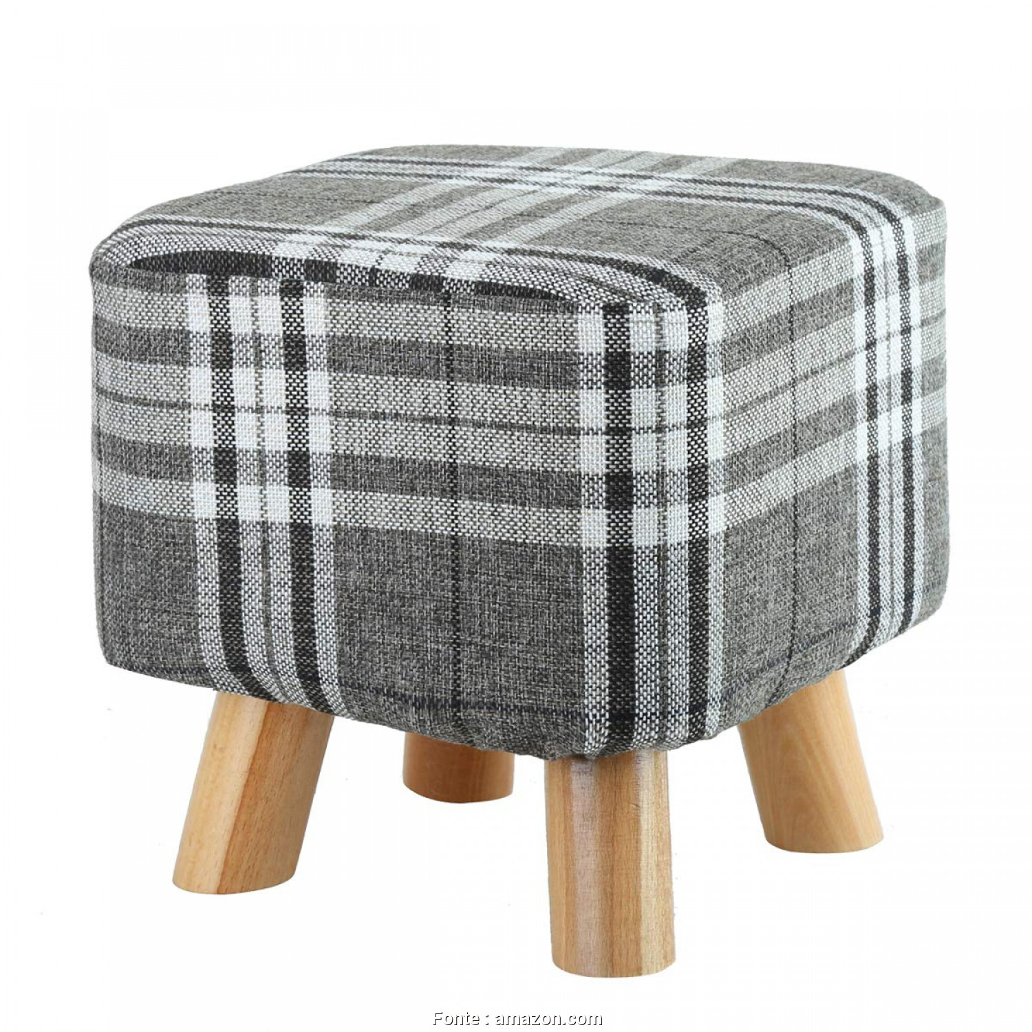 Plaid Divano Amazon, Migliore Amazon.Com: Eshow Padded Footstools Ottoman Foot Rest With Wooden Legs Linen Fabric Cover: Kitchen & Dining