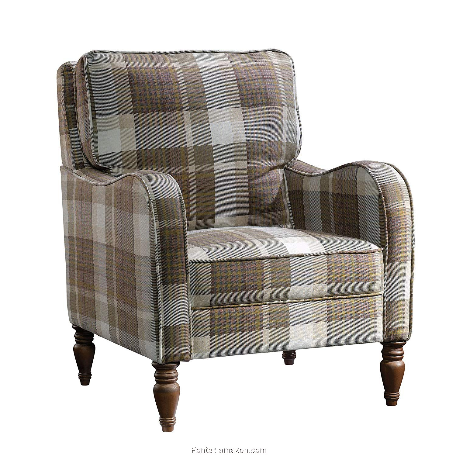 "Plaid Divano Amazon, Eccezionale Amazon.Com: Sauder 420076, Grange Accent Chair L: 29.13"" X W: 33.07"" X H: 33.86"" Plaid: Kitchen & Dining"