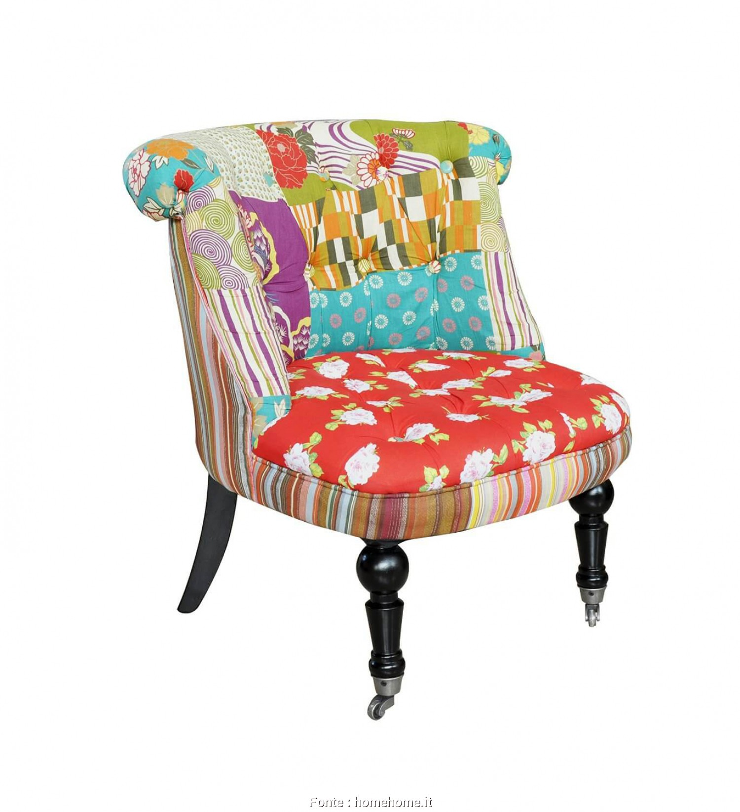 Poltrone Vintage Patchwork, Esclusivo Poltroncine In Stile Vintage, HomeHome