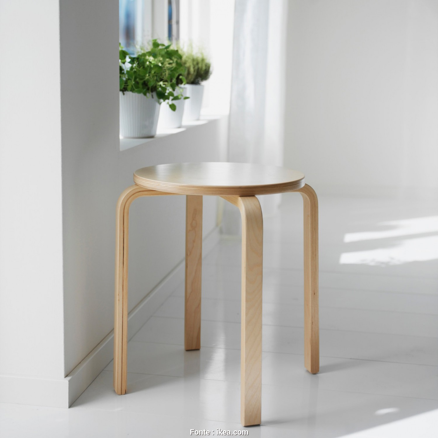 Stoffe Ikea Grancia, Rustico FROSTA Stool, Birch Plywood., Stool, Be Stacked, So, Can Keep