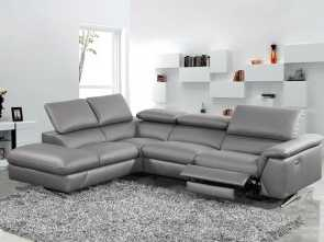 9 Divani Flour, Sbalorditivo Divani Casa Maine Modern Dark Grey Eco-Leather Sectional Sofa W