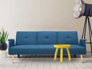 Amazon Copricuscini Divano Genius, Classy Amazon.Com: Adeco Fabric Fiber Sofa, Sofabed Lounge With Arm, Soft Cushion, Living Room Seat, Wood Legs, Royal Blue: Kitchen & Dining