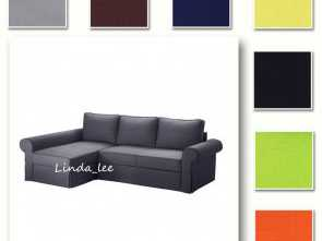 Backabro Ikea Couch, Eccezionale Details About Custom Made Cover Fits IKEA Backabro Sofa, With Chaise Longue, Replace Cover