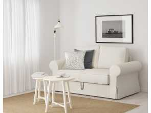 Backabro Ikea España, Amabile BACKABRO Two-Seat Sofa-Bed Hylte White