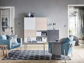Beddinge Ikea Pdf, Magnifico Light Grey Living Room With Light Blue KOARP Armchairs On A Handwoven, Placed In Front