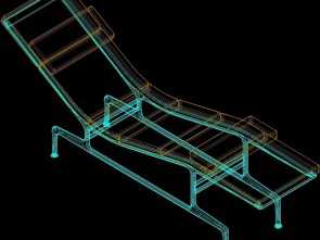 Chaise Longue In Dwg, Fantasia Chaise Longue Eames 3D, Model, AutoCAD, Designs CAD