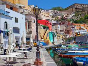 Chateau D'Ax Napoli, Marina, Completare The Idyllic Fishing Village Procida With Fishing Harbour Marina Di Corricella, Above Fortress Terra Murata