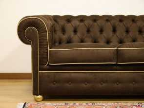 chesterfield divano marrone Divano Chesterfield in tessuto marrone Bello 4 Chesterfield Divano Marrone