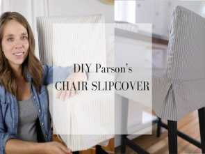 Come Rivestire Un Divano Youtube, Costoso How To, A Parsons Chair Slipcover, The IKEA HENRIKSDAL, Stool, YouTube