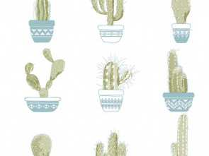 Copridivano Etnico Amazon, Bello Wallpaper, Home, Office, Retail/Funny Cactuses, Perfect, Children & Teens' Room,, Etnico, Indian Style, Cowboy (Pots, Cactus, Motifs On Vase)