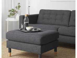 copridivano ikea asarum IKEA, LANDSKRONA Footstool Gunnared dark gray/wood, Products Amabile 6 Copridivano Ikea Asarum