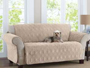 Copridivano Sofa Saver, Bello This Deluxe Quilted, Fleece-Like Sofa Cover Is Designed To Wrap, The Way