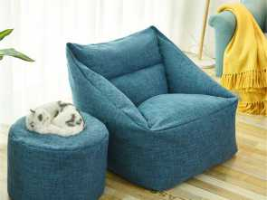 Copridivano Waterproof, Semplice Waterproof Bean, Lazy Sofa Indoor Seat Chair Cover Beanbag Sofas Large Bean, Cover Armchair