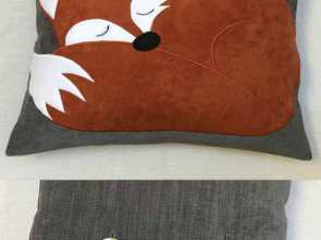 Cuscini Decorativi Etsy, Deale This Is Gorgeous! Sleeping, Cushion I Found On Etsy, Handmade With Faux Suede, #Etsy #Fox #Cushion, Textile, Cucito, Cuscini