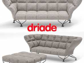 cuscini divano 3d ... 33 cuscini sofa by driade with poof 3d model, obj, 2 Divertente 5 Cuscini Divano 3D