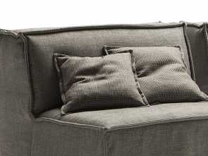 Cuscini Divano Sfondati, Deale Scatter Squared Cushions With Flat Piping Cm 45X45