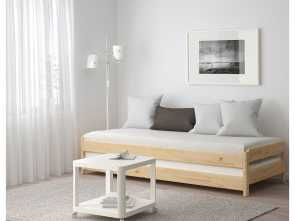 Divani Country Ikea, Esotico IKEA, UTÅKER, Stackable, With 2 Mattresses, Pine/Husvika, , If, Stack, Beds On, Of Each Other, They, Be Used As A Sofa Or A Spare Bed