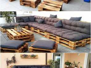 Divani, Pallet Pinterest, Modesto Pallets Made Patio Furniture, Pallet DIY, Pallet Patio Furniture