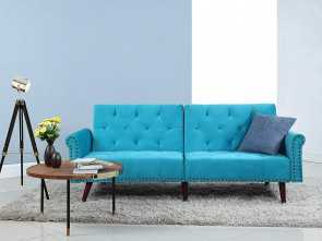 divano amazon Amazon.com: Divano Roma Furniture Modern Tufted Velvet Splitback Recliner Sleeper Futon Sofa with Nailhead Trim (Blue): Kitchen & Dining Costoso 4 Divano Amazon
