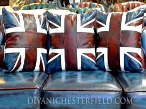 divano bandiera inglese Leather Cushions, pillow Multicolour Chesterfield Harlequin Fantasia 5 Divano Bandiera Inglese