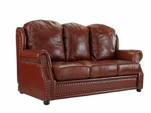 Divano Chateau D'Ax America, Magnifico Details About Leather Sofa 3 Seater, Living Room Couch With Nailhead Trim (Light Brown)