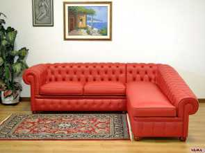 divano chester con chaise longue Chesterfield corner sofa with right angle Grande 6 Divano Chester, Chaise Longue