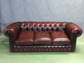 Divano Chesterfield.Com, Esclusivo Chesterfield Leather Sofa, 1950S
