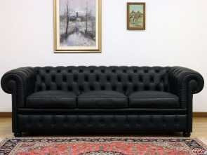 Divano Chesterfield Design, Superiore Black Chesterfield Sofa: Great Elegance, Chesterfield Sofa