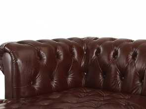 Divano Chesterfield Ebay, Maestoso Details About Real Tufted Leather Chesterfield L Shape Sectional Sofa, Left Chaise, Dark Brown