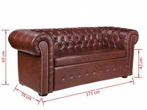 Divano Chesterfield Moderno, Loveable VidaXL DIVANI CHESTERFIELD DIVANO MODERNO CHESTERFIELD STILE CAPITONNE' MARRONE: Amazon.It: Casa E Cucina