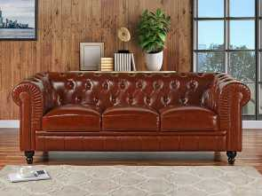 divano chesterfield online Get Quotations · Divano Roma Furniture Classic Scroll, Real Leather Chesterfield Sofa (Light Brown) Bello 6 Divano Chesterfield Online