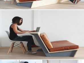 Divano, Da Te Paint Your Life, Freddo This Tutorial, A, Modern Couch Teaches, How To Create A Couch With A Wood Frame, Leather Cushions That Also Doubles As A Desk
