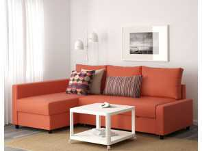 Divano Ikea Friheten Pelle, Bellissima Friheten Corner Sofa, With Storage Skiftebo Dark Orange
