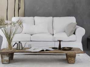 Divano Ikea Karlstad, Buono Simply Linen, Natural, Affordable Sofa Covers, IKEA Furniture, Bemz