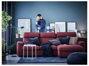 Divano Ikea Lidhult, Rustico IKEA LIDHULT 3-Seat Sofa, Cover Is Easy To Keep Clean Since It Is
