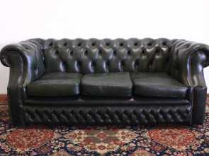 divano in inglese coach 3 seater Chesterfield sofa in original green leather Made in the Originale 4 Divano In Inglese Coach