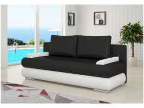 divano letto pelle nera Full Size of Justyou Milo Divano Letto Finta Pelle Nero Bianco E Divano Nero Pelle Delizioso 4 Divano Letto Pelle Nera